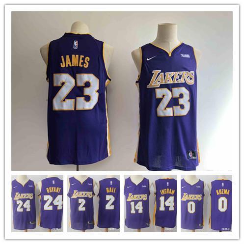 21f6e980d2a6 2019 2019 23 LeBron James Laker Jersey The City Los Angeles Kobe 24 Lonzo 2  Ball Kyle 0 Kuzma Brandon 14 Ingram Purple Ball Jersey NEW From Zsyandsan