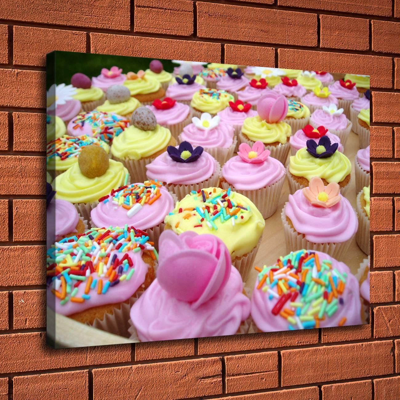 Ful CupcakeHome Decor HD Printed Modern Art Painting On Canvas Unframed Framed From Zym1122 684