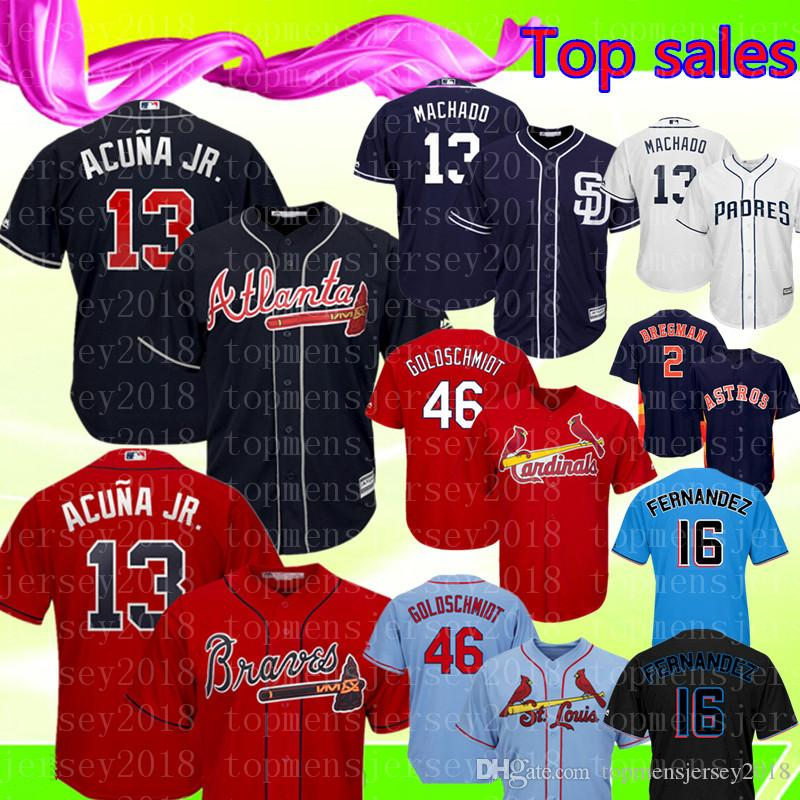 huge selection of 65310 ef1b0 Ronald Acuña Jr. Atlanta Braves Jersey Red Dark blue Majestic Scarlet 2019  Alternate Official Cool Base Player Embroidery Baseball Jerseys