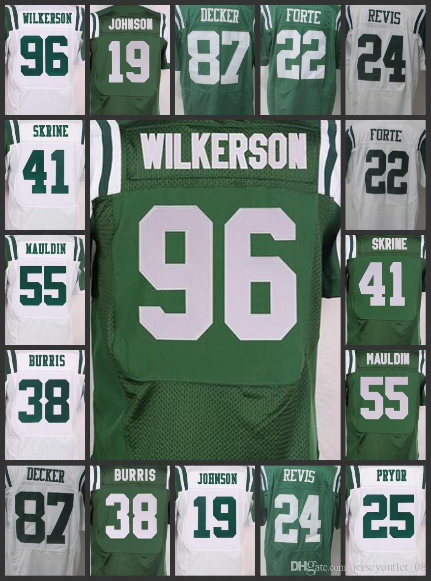 8adbb1847 New York Men Jets Women Youth Jerseys  22 Matt Forte 55 Lorenzo Mauldin 19  Keyshawn Johnson 87 Eric Decker Embroidery Jerseys Discount Mens Suits  Dress For ...
