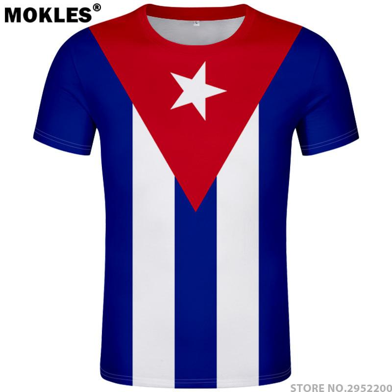 Cuba T Shirt Diy Free Custom Made Name Number T-shirt Nation Flags Spanish  Country Cu Ernesto Guevara Print Photo Cuban Clothing J190413