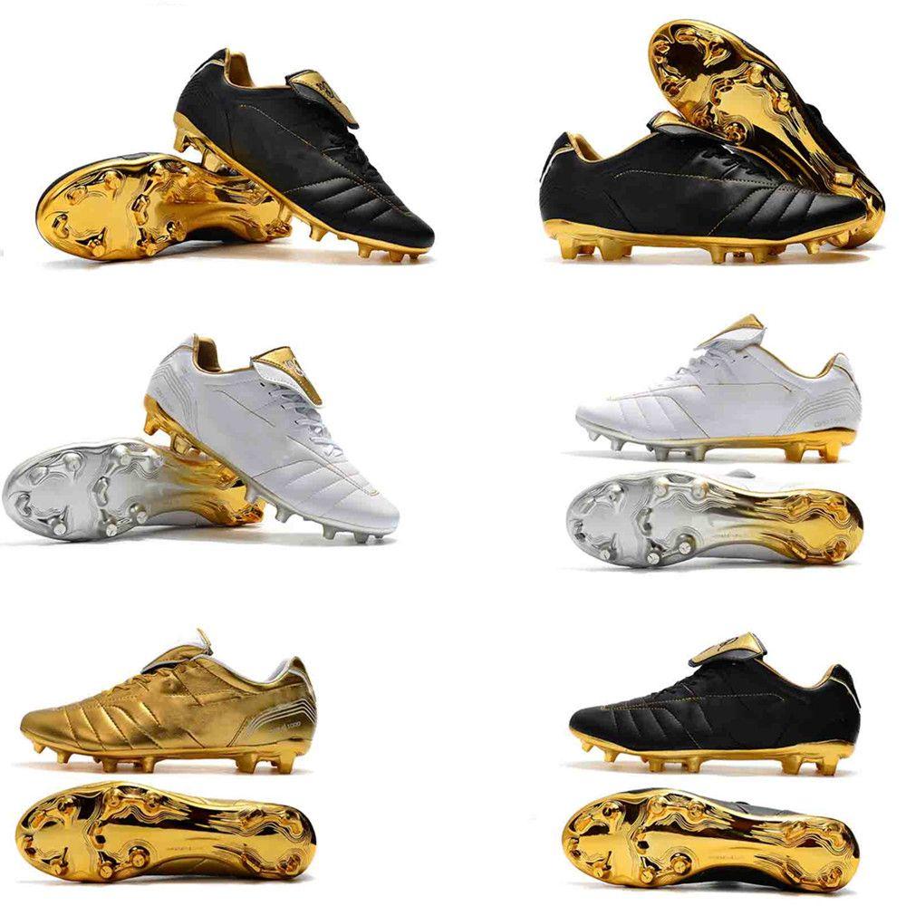 best cheap 3b114 4cd3a Compre Hot Mens Tiempo Legend VII 7 R10 Elite FG Ronaldo De Assis Moreira  Zapatos De Fútbol Con Bajo Tobillo Botas De Fútbol Botines EE. UU.