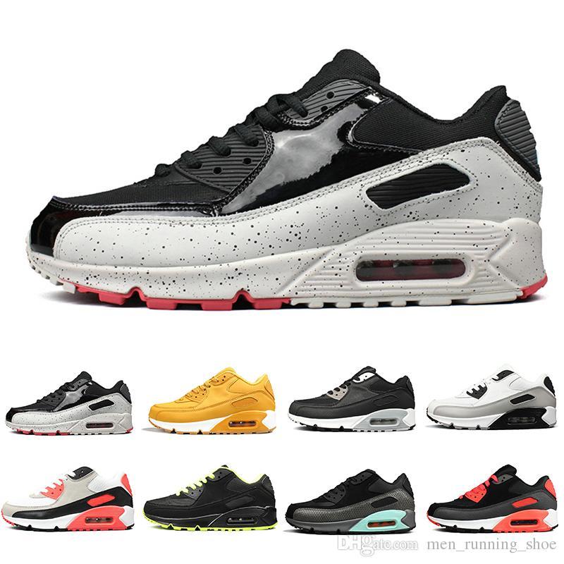 Nike air max 90 shoes 2019 Calzado casual para hombre clásico 90 hombres y mujeres marca negro rojo blanco acolchado zapatillas deportivas