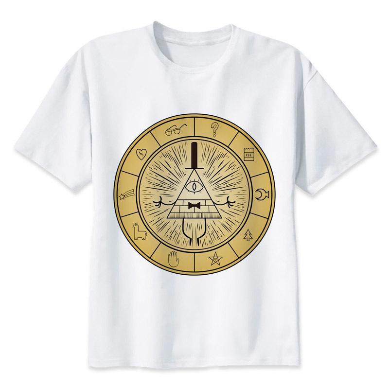f0db87c9c Compre Bill Cipher Hombres De Dibujos Animados 20t Camisa De Los Hombres  Camiseta De La Camiseta O Cuello Camisetas Blancas Para Top Cool Divertido  Camiseta ...