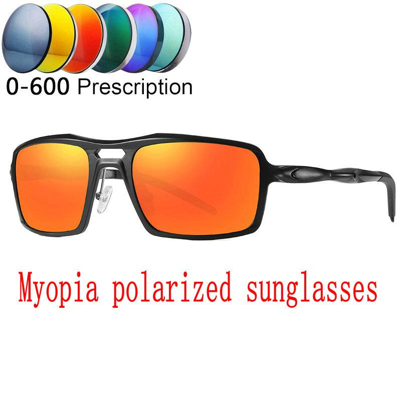 8280f06bd96 Custom Made Myopia Minus Prescription Polarized Lens Men Square ...