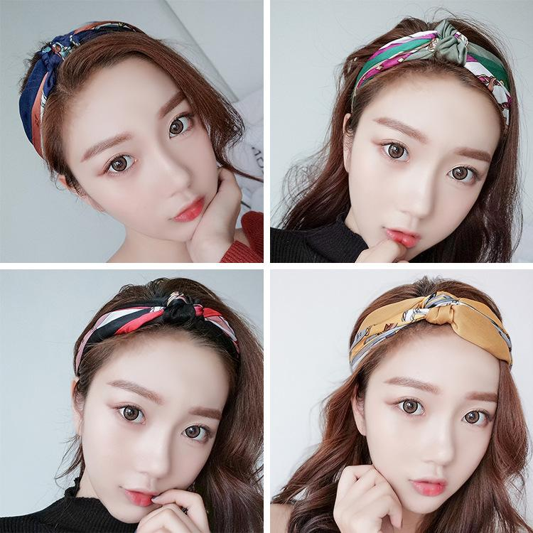 Korean version of the sweet beauty female hair band ins hair accessories net red wash headband fashion hairpin jewelry