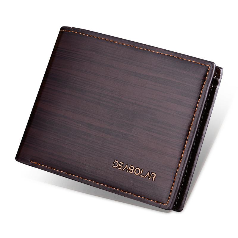 9eb79abd08ee Fashion Leather Wallet Men Money Clips Multifunction Card Bags Short Purse  Brands Coin Pocket Slim Small Wallets Handmade Leather Wallet Best Front  Pocket ...