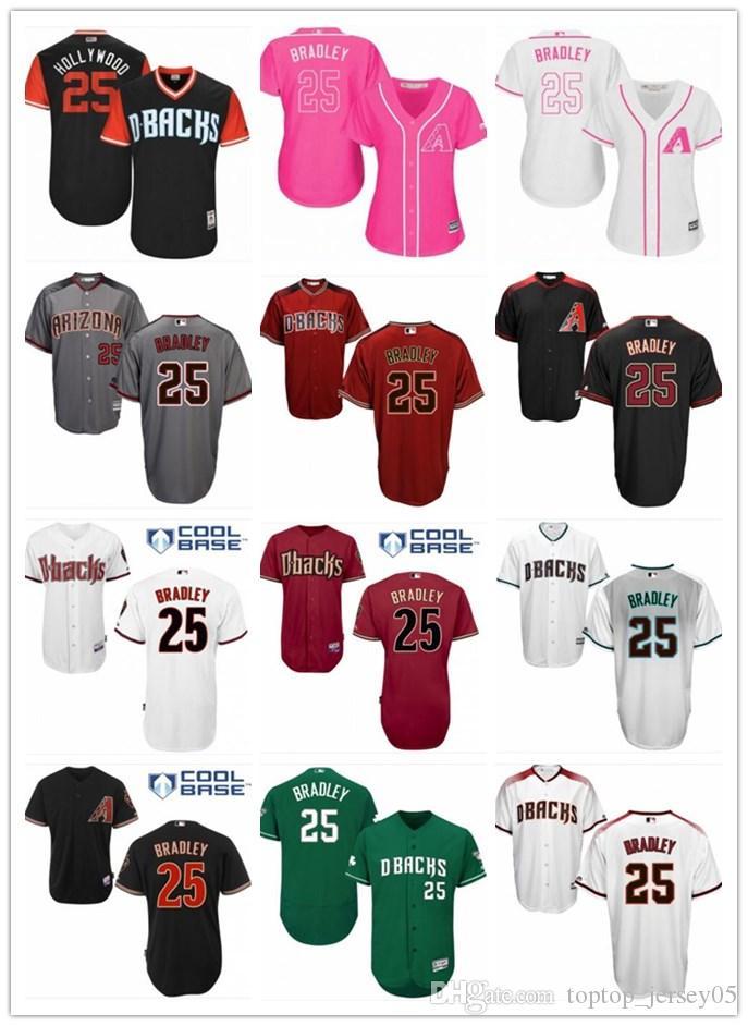 half off 5425e 7d421 2018 top Arizona Diamondbacks Jerseys #25 Bradley Jerseys  men#WOMEN#YOUTH#Men's Baseball Jersey Majestic Stitched Professional  sportswear