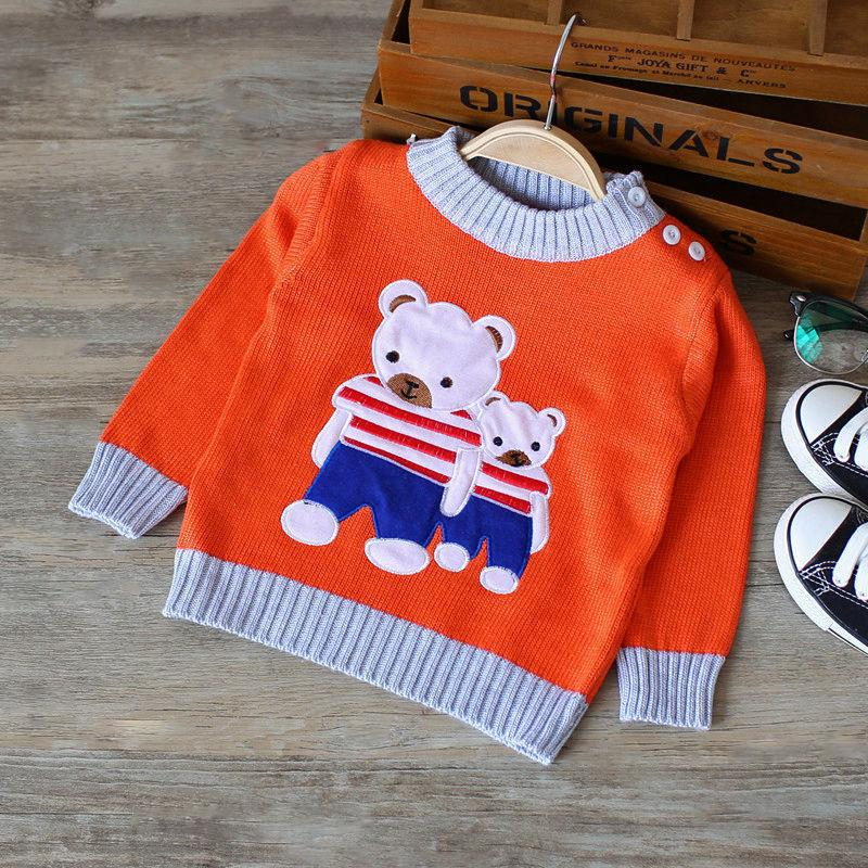 992ef9b5e Quality Children Sweates For Boys Girls Cotton O Collar Cartoon Bear ...