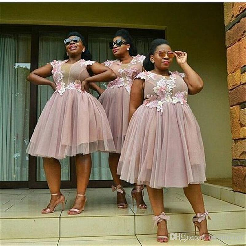 Wedding Gowns In South Africa: South African Short Bridesmaid Dresses 2019 New Keen