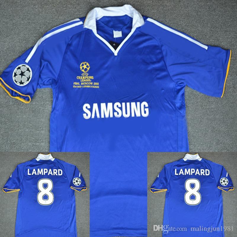new arrival 1ec0d 1a669 2007 2008 Chelsea Soccer Jersey Retro Lampard Ballack Drogba Terry Soccer  Jersey Vintage Classic 07 08 Camisetas de fútbol Lampard Soccer Jersey ...