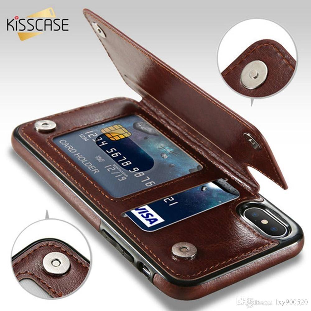 06db44f921e898 KISSCASE Retro PU Leather Case For IPhone X 6 6s 7 8 Plus XS 5S SE Multi  Card Holders Phone Cases For IPhone XS Max XR 10 Cover Customize Your Own  Cell ...