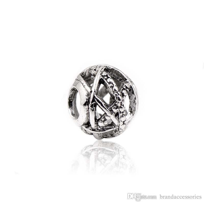 478ce83b8 2019 Creative Hollow Silver Spacer Beads Openwork Galaxy Sphere Fit Pandora  Charms Bracelets Pendant Jewelry Findings DIY Accessories HJ138 From ...