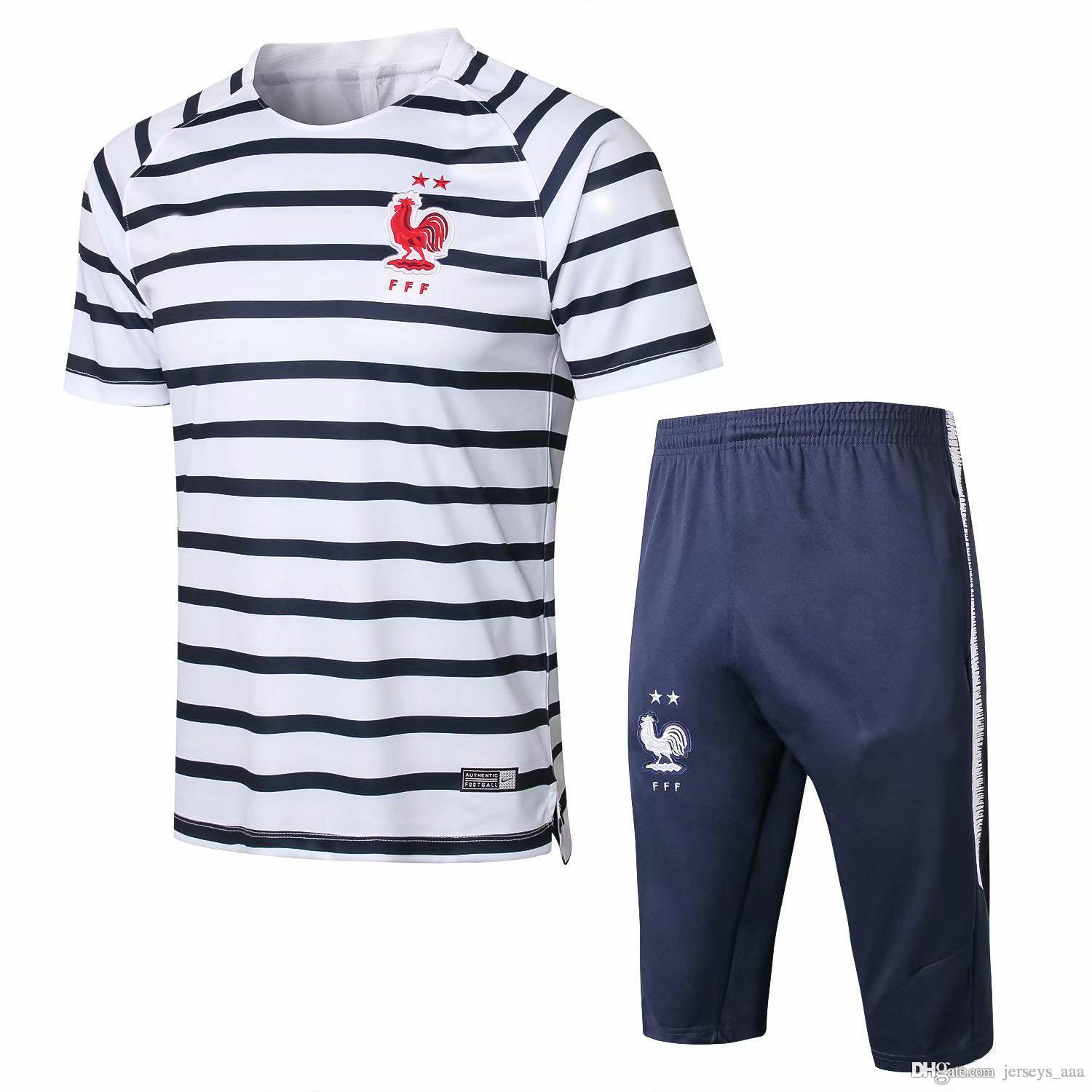 AAA+ New French Training Suit 18 19 Maillot De Foot French National ... 595163da5