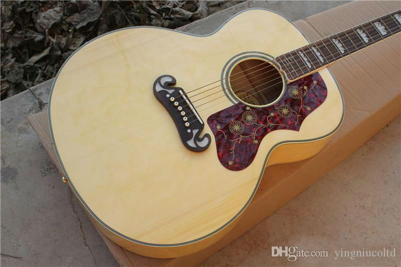Sj20043 Inch Large Box Acoustic Guitar Original Wood Color Cheapest