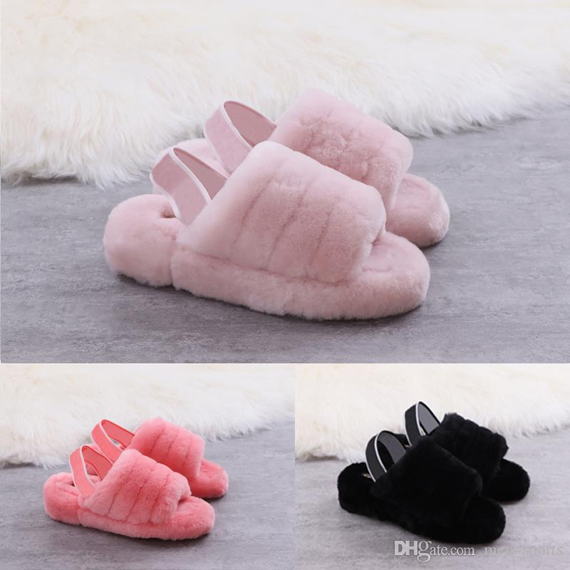2019 WOMEN Australia WGG Fluff Yeah slippers designer Fashion luxury casual shoes boots women shoes autumn and winter Snow Boots US5-10