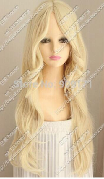 Fashion Wig New Charm Women S Long Platinum Blonde Wavy Full Wigs Celebrity  Full Lace Wigs Top Quality Synthetic Wigs From Dingyingying8889 e05865b801b7