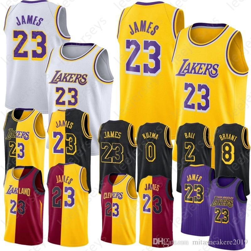 6139dbc893a 2019 0 Kuzma Kyle 2 Ball Lonzo Los Angeles 23 James LeBron Jerseys Lakers 24  Bryant Kobe 100% Stitched Basketball Jerseys From Mitasneakere2019