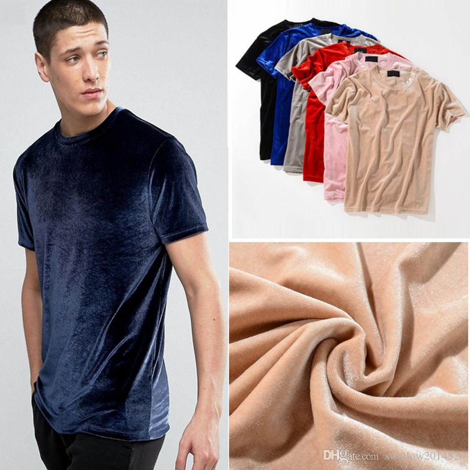 7fd0b4457d604 Men 2019 Summer Mens Designer T Shirt European Style Velvet T Shirt Round  Neck Cotton Short Sleeves Male And Female T Shirts Online T Shirt Shopping  Print ...