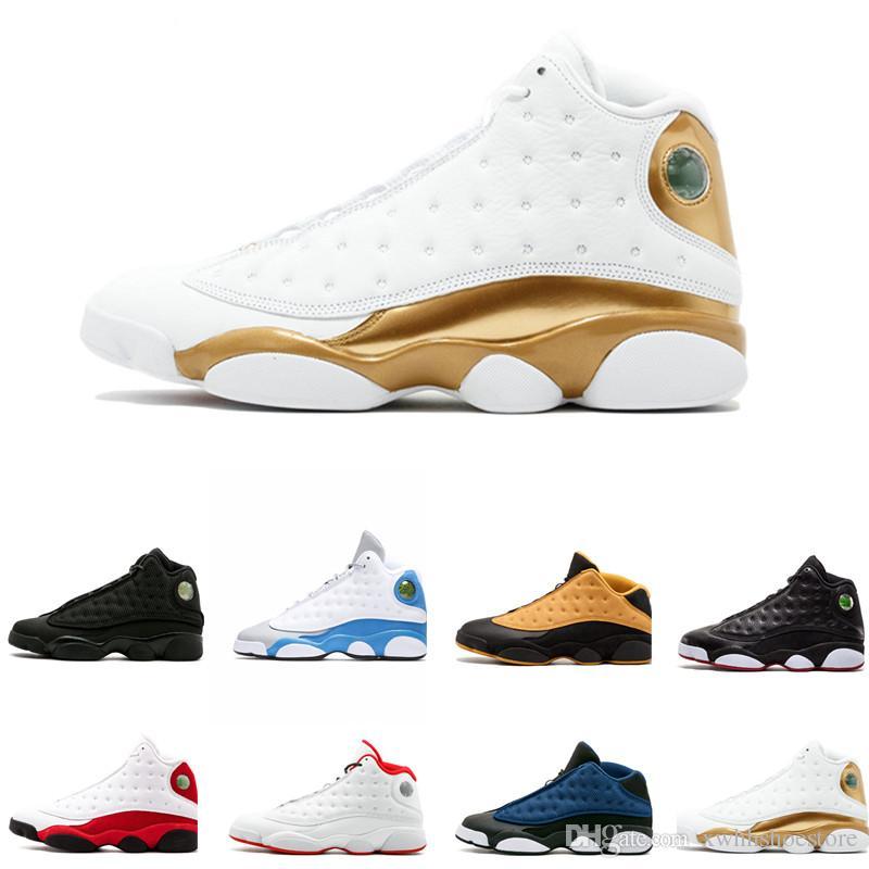 detailed look 9ab24 54432 Acheter Nike Air Jordan Retro Aj13 Chaussures De Basketball Pas Cher  Nouvelles 13 13s Love Respect Noir Blanc Rouge Gris Toe Baskets Femmes  Baskets De Sport ...