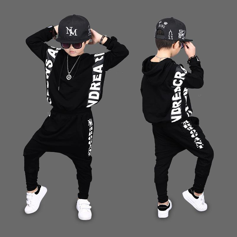 Baby Boy Clothes 2018 New Boys, Spring Autumn Suits, Children's Wear, Long Sleeved Sports Suits, Trend Hip Hop, Two Sets Y190518