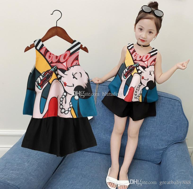 fd385f56776 2019 Baby Girls Outfits Children Chiffon Print Top+Shorts 2019 Summer  Fashion Boutique Kids Clothing Sets C6187 From Greatbaby888