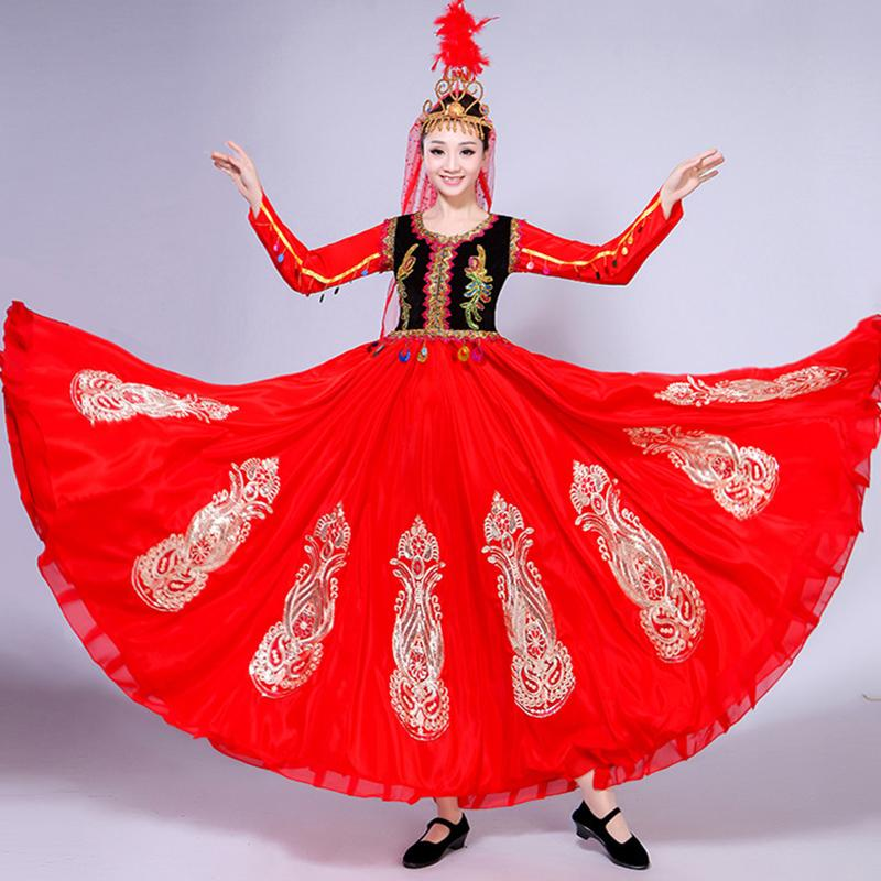 a1bce6f7f 2019 2019 New Hot Ladies Xinjiang Dance Costumes Female Adult Uygur  Minority Costumes National Wind Suit Big Swing Skirt From Jilihua, $81.01 |  DHgate.Com