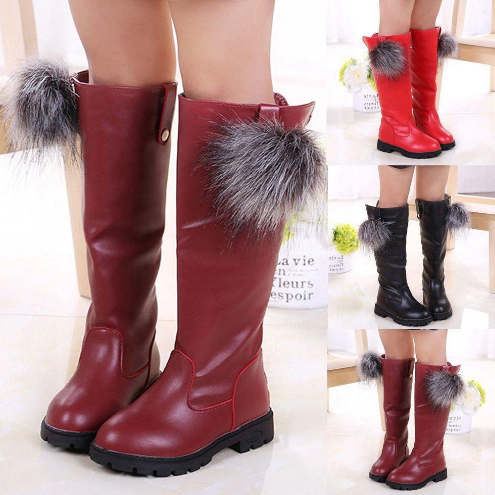 c1e0e8628f2 Good Quality Children Kids Shoes Baby Girls Venonat Over The Knee Flock  Warm Boots Winter Shoes Chaussure Enfant Fille Ayakkabi Waterproof Boots  Kids Girls ...