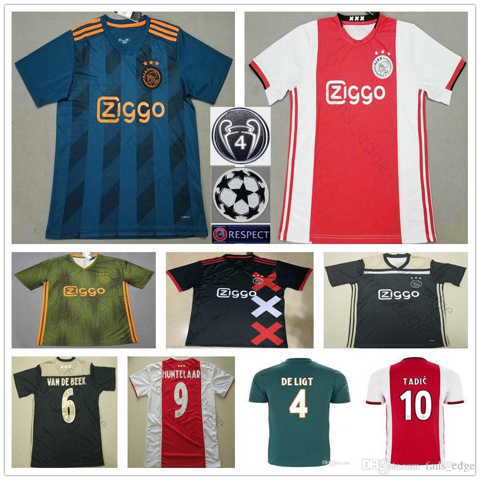 b67e495ed 2019 2019 2020 Ajax FC Soccer Jerseys DE LIGT VAN DE BEEK TADIC ZIYECH DE  JONG NERES Nouri Huntelaar Custom Adult Kids Football Shirt From Fans_edge,  ...