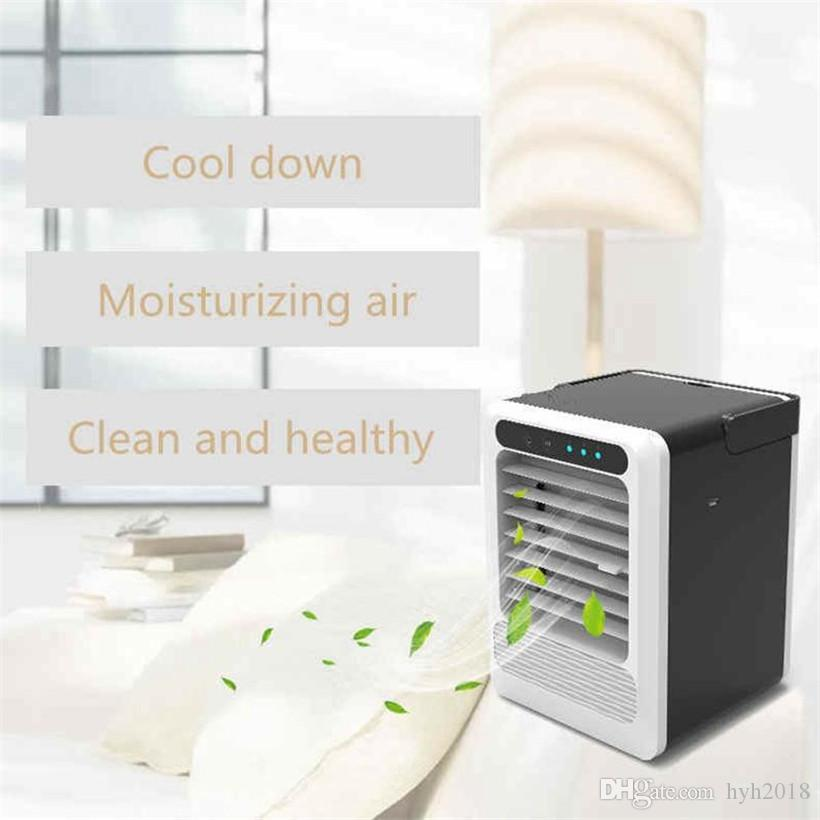 High Quality Mini Air Cooler Fast Cooling Portable Air Conditioner Small Chiller Air Refrigerating Machine Fan Free DHL