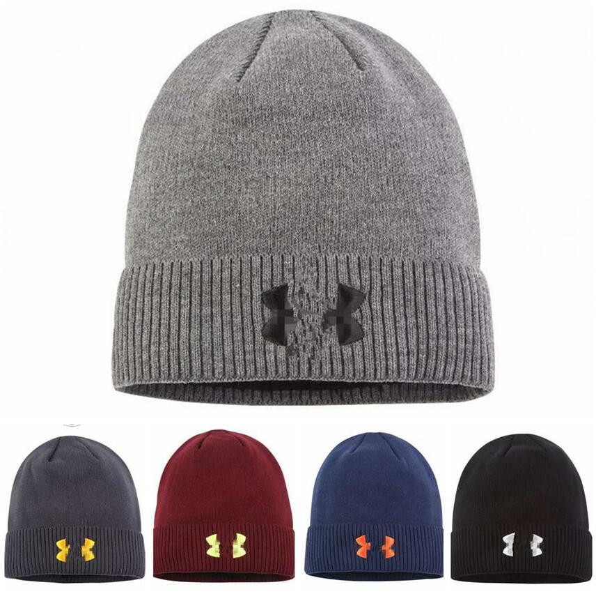 Unisex Hat Wool Beanie Winter Warm Men Women Skull Caps With Logo Print Outdoor Skiing Snood Hats Street Hip Hop Knitted Cap LJJA2760