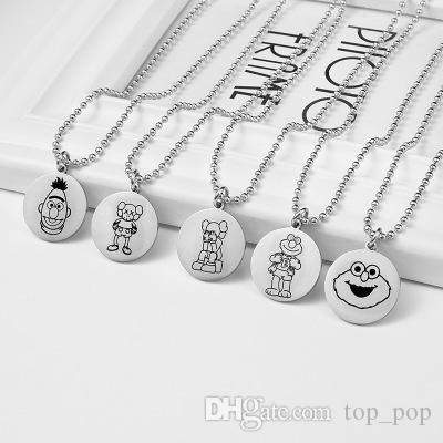 Chains Necklaces Pendant Necklaces Circle Necklaces Anime Movie Ponyo on the Cliff Valentine's Day Couple gift Custom Logo Coin JJ19803