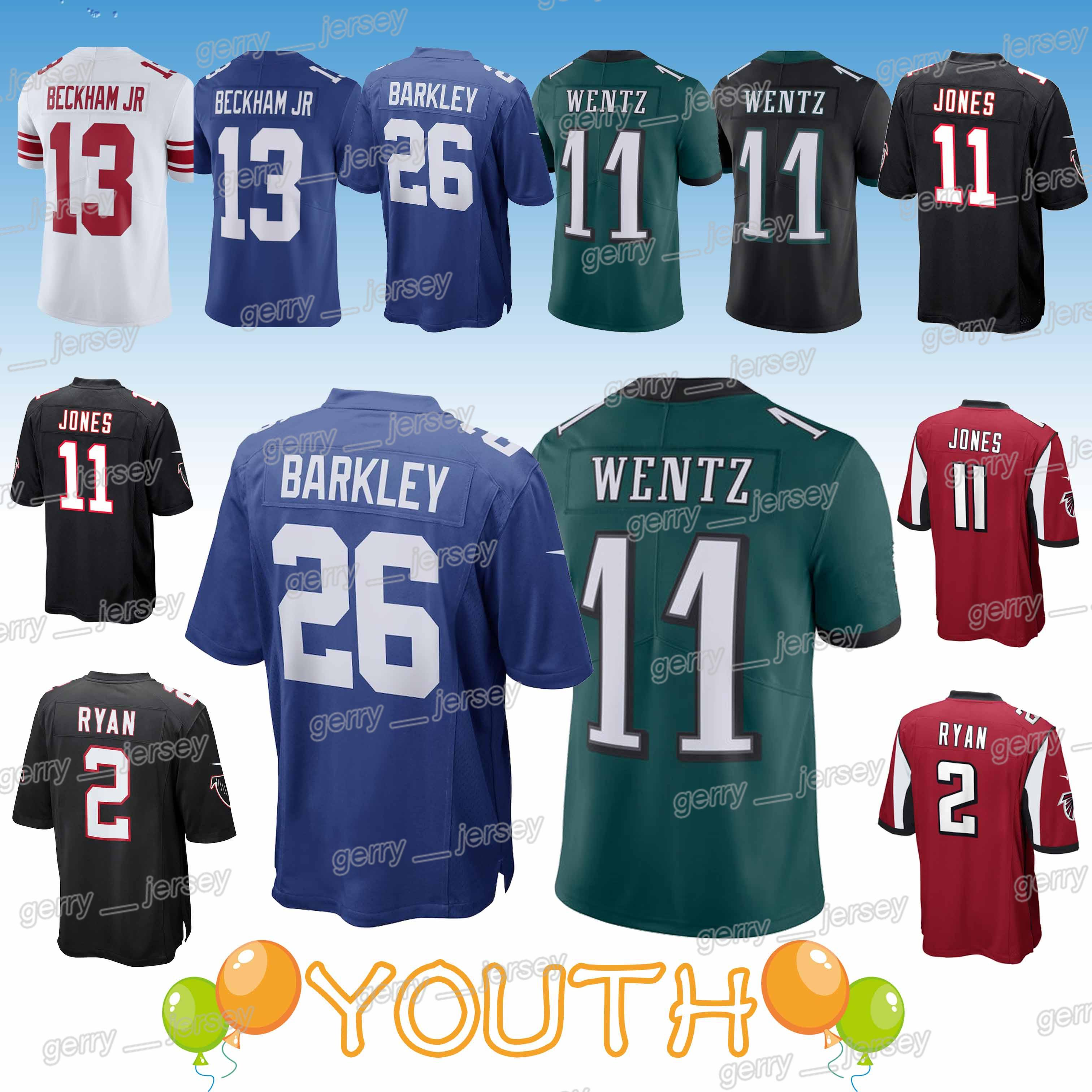 new product 1854f cfd0a YOUTH 26 Saquon Barkley 13 Odell Beckham Philadelphia New Eagle York Gaint  Atlanta jerseys Falcon 2019 jersey Kids Design sweater