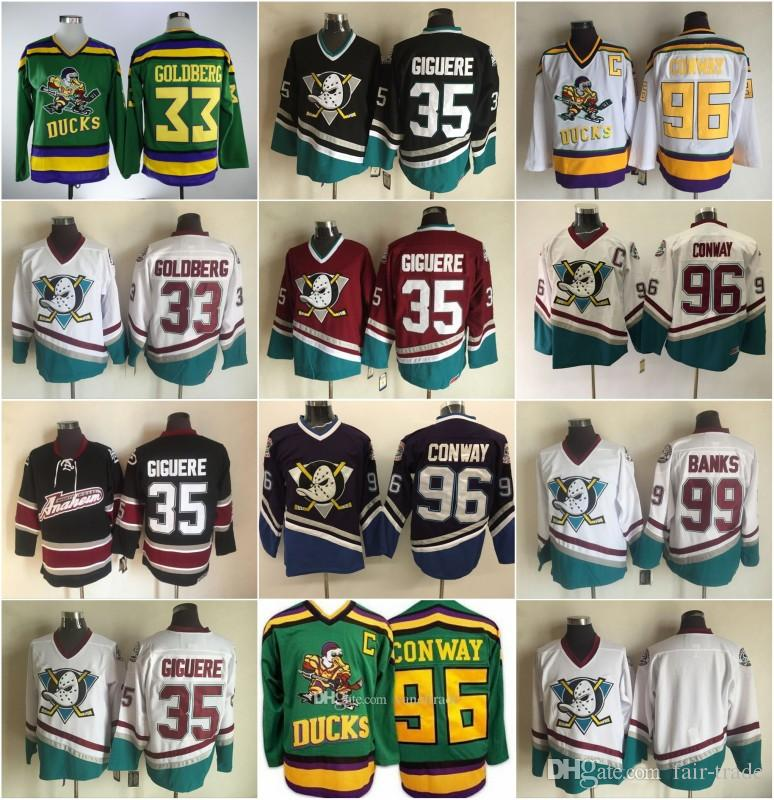 53afff85b Customize Anaheim Mighty Ducks Goalie Cut Green Authentic Hockey Jersey