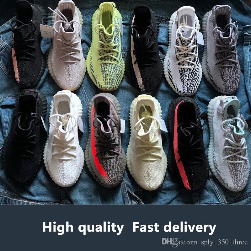 98578fea39f5a With Box Top Quality Yeezys Yezzy Yezzys Yeezy 350 Static Semi Frozen  Yellow Cream White Butter Hyperspace True form Clay Beluga 2.0 Kanye West  Sports ...