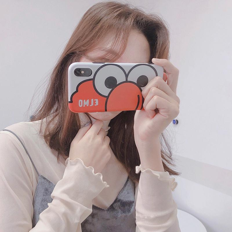 Smart2019 Selfie Block Face Cartoon Apple Xs Max Xr Apply Hand Shell Iphone8plus 7p 6s Personality Woman Fund