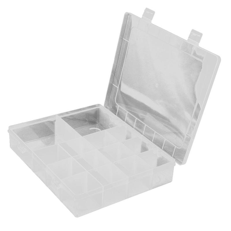 14 Compartments Jewelery Box Storage Case Adjustable in Plastic