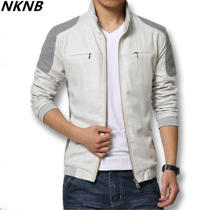 6c1c074e0f1b Spring Summer 2019 Men Jackets Fashion Casual Men's Coats Slim Fits Plus  Size 3XL 3 Colors Linen Men's Clothing Soft Streetwear