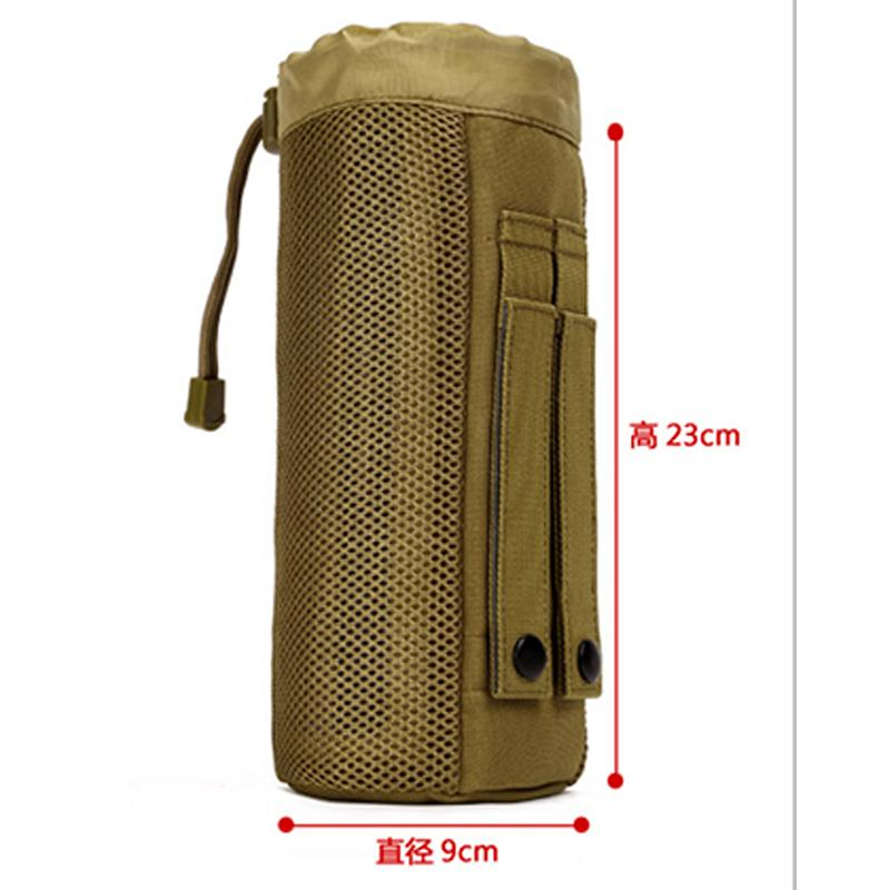 Outdoor Tactical Water Bag Water Bottle Pouch Molle Pack Camouflage Gear Waist Back Plus Pack for Sport Camping Hiking