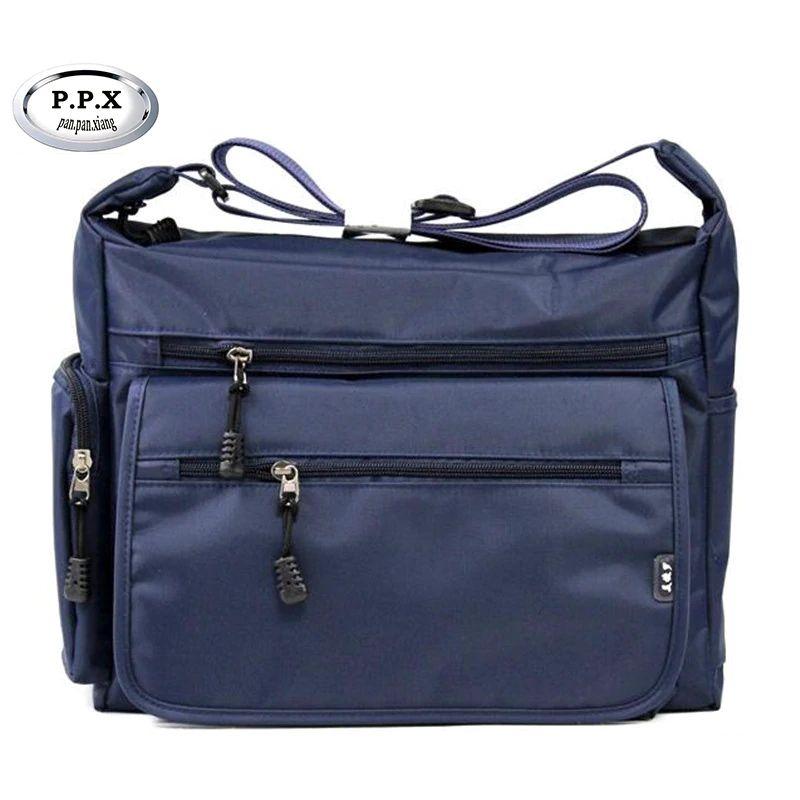f351fb3b60a6 P.P.X Waterproof Nylon Men Single Shoulder Bags Casual Fashion ...