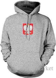 Poland Shield Symbol Polish White Eagle Polska From Born POL Hoodie Sweatshirt
