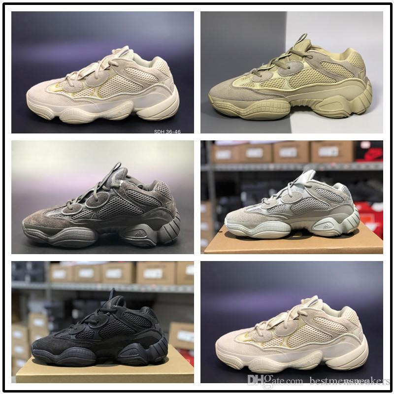 Designer shoes Adidas yeezy boost 500 men women [Mit Sportuhr] 500 Salt Blush 3M Super Moon Yellow bestätigte Desert Mouse 500 praktische schwarze