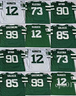 bc0a0f5c46f 2019 New York RetroJets #99 Mark Gastineau#73 Joe Klecko #90 Dennis Byrd #12  Joe Namath #85 Wesley Walker Stitched Football Jersey From Colorful_sun, ...