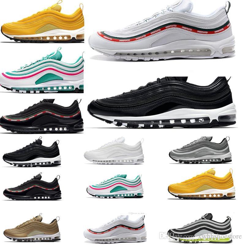 6d80d8315d7bd 2019 New 97 97s Running Shoes Bright Citron Triple Black White South ...