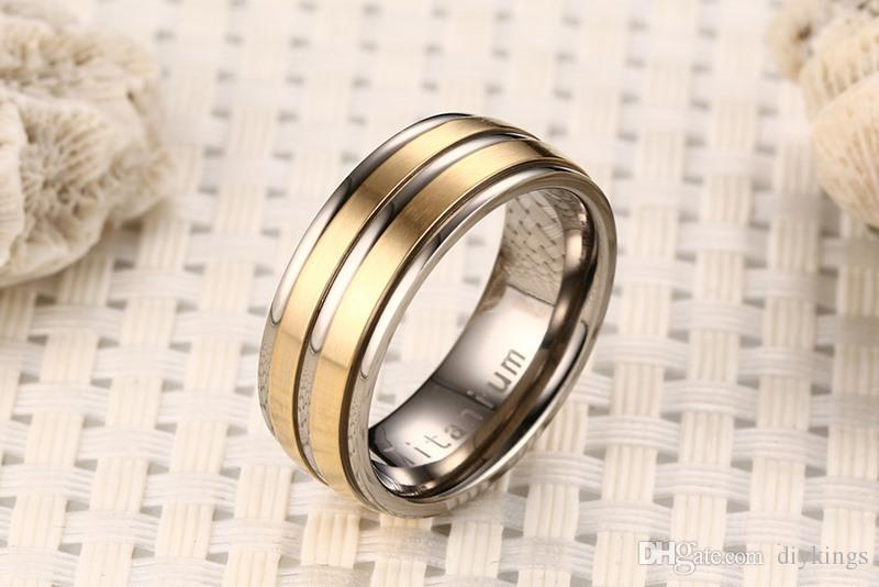 Fashion Rings Pure Titanium Material Ring Matte Finish Vacuum Electroplate High Polished 5 Colors Titanium Rings