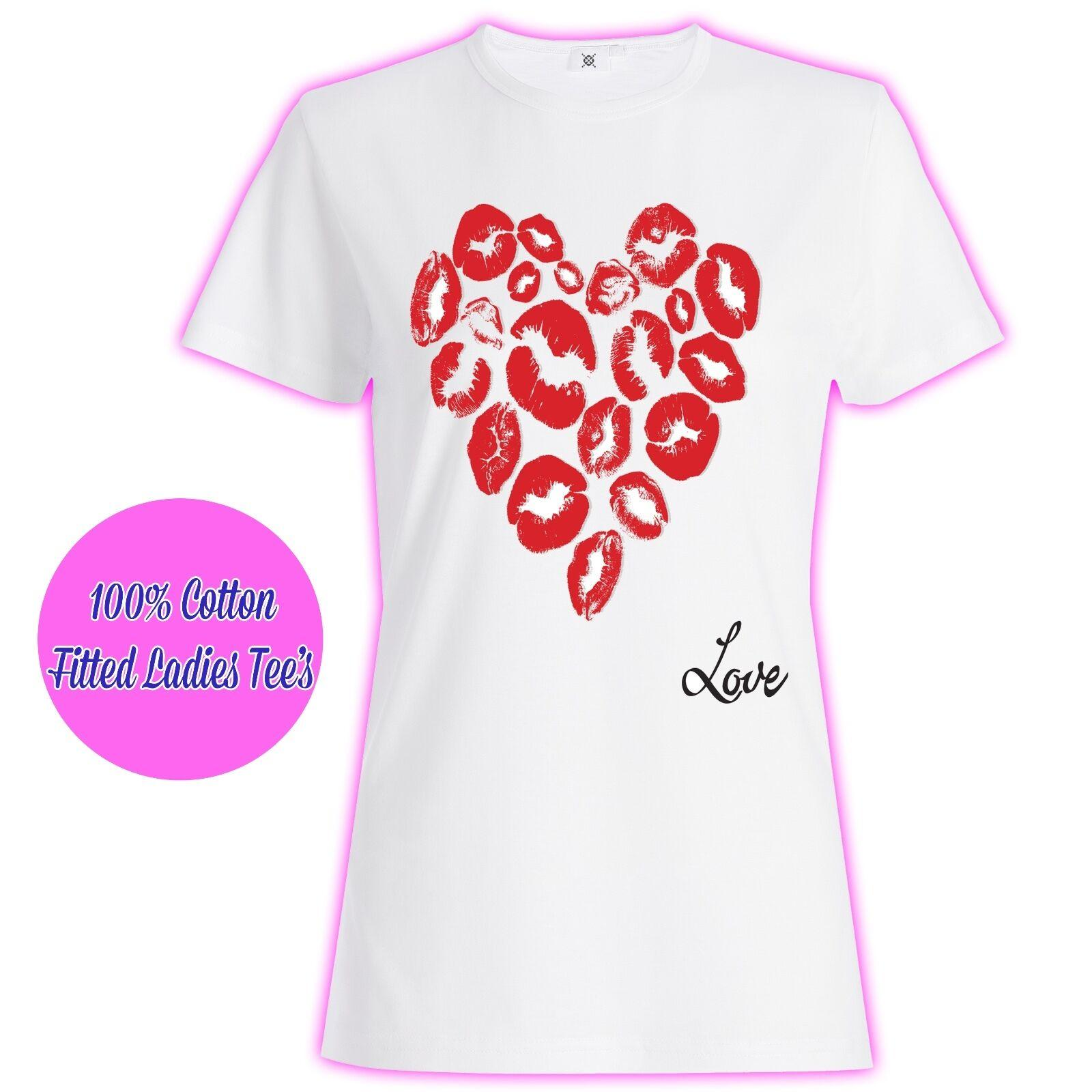 ca1a56c6b475 Womans Ladies Girls Valentines Princess Love Slogan Kisses Glitter T Shirt  Men Women Unisex Fashion Tshirt Black Buy Online T Shirts Make Tee Shirts  From ...