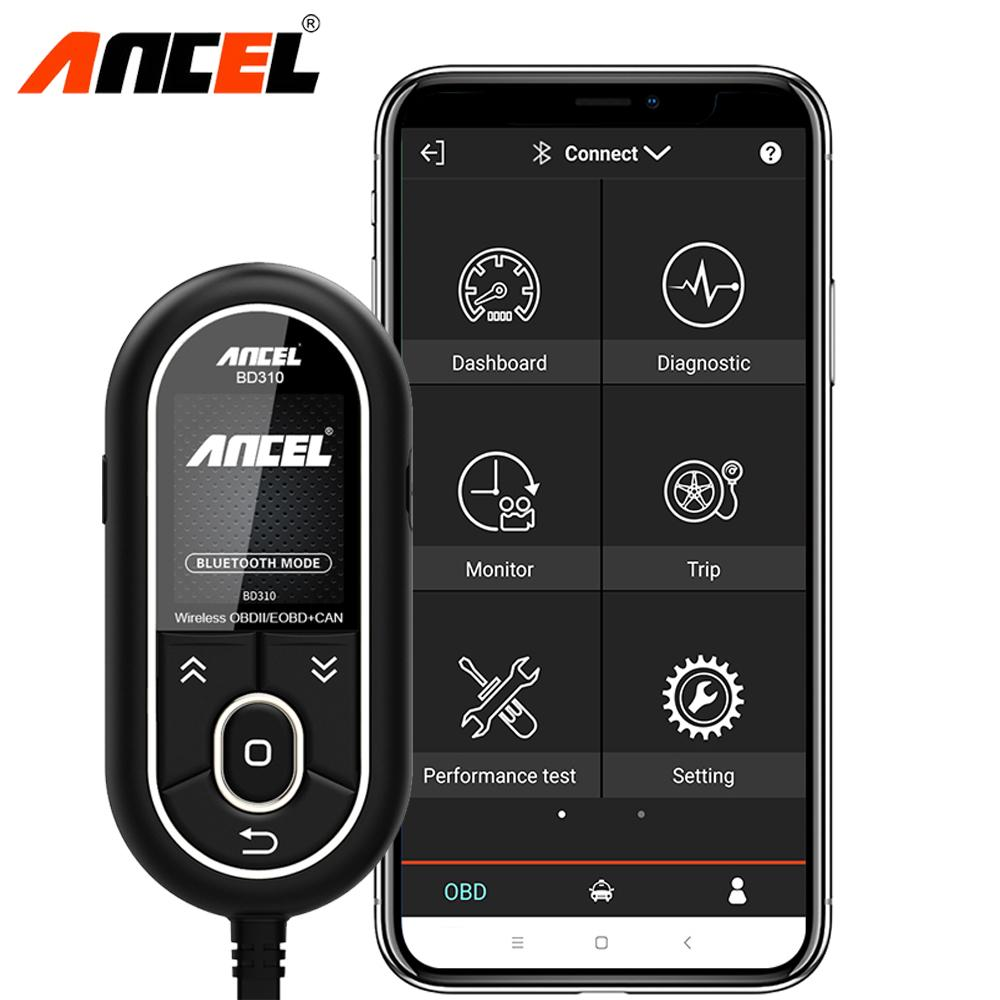 Ancel BD310 Diagnostic Tool Bluetooth 4 0 2 in 1 Auto Digital Gauge  On-Board Computer OBD2 Scanner for iPhone Android Bluedriver