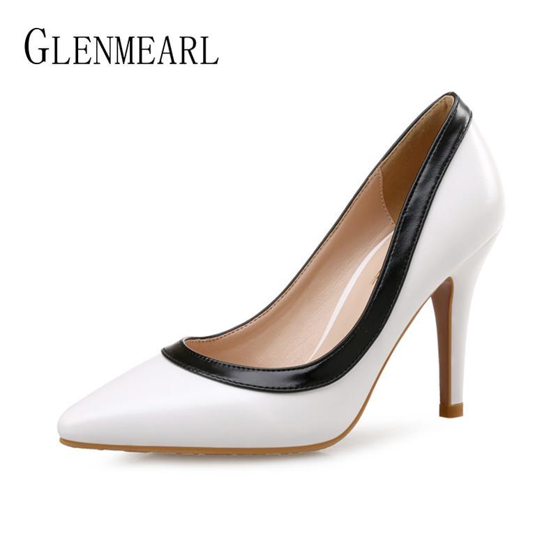 a946e7cf673 Women Pumps High Heels Wedding Shoes Pointed Toe Thin Heel Shoes ...