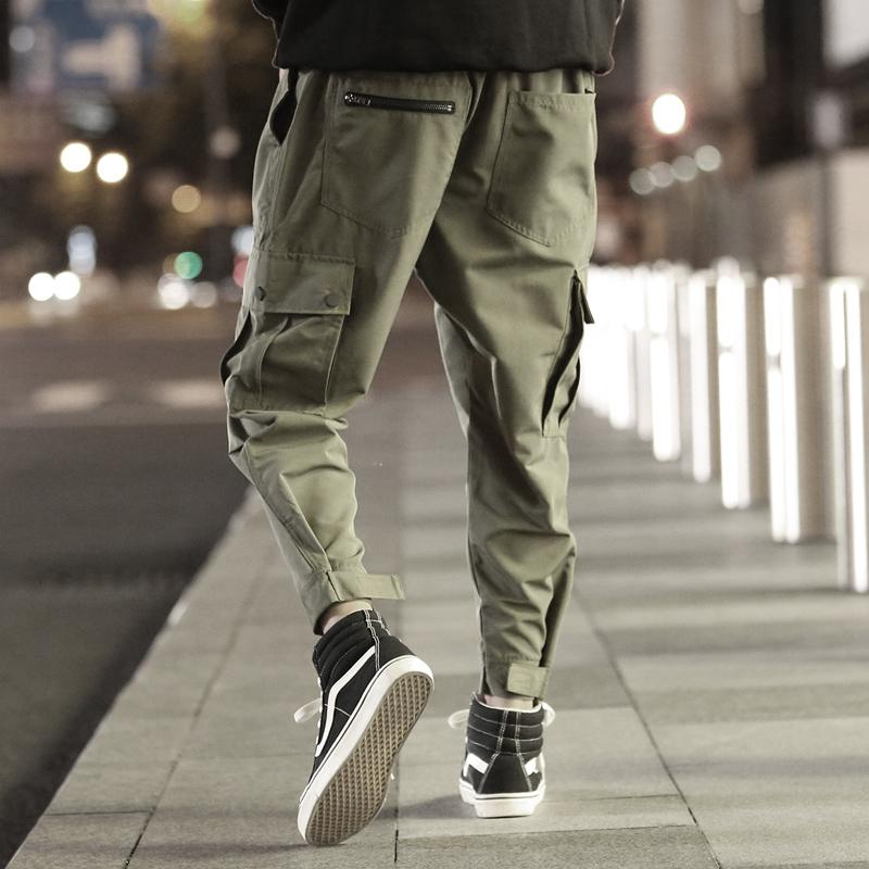 a08f6b9b21b21 2019 Multi Pocket Bib Overall Men Jogger Army Green High Street Cargo  Casual Pants Loose Street Dance Fashion Hip Hop Trousers Camo From Cactuse,  ...
