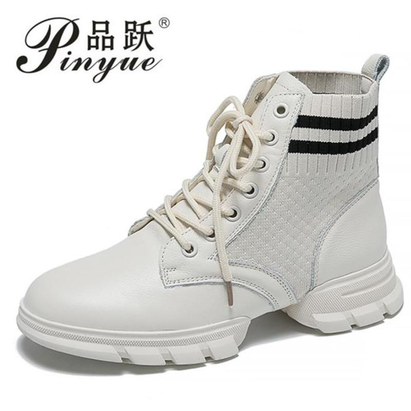 dbea2caf3 New Trendy High Top Women Sneakers Autumn Platform Shoes Woman Comfortable  Ladies Trainers Sock Shoes White Black Walking Boots Ankle Boot From  Vintagered, ...